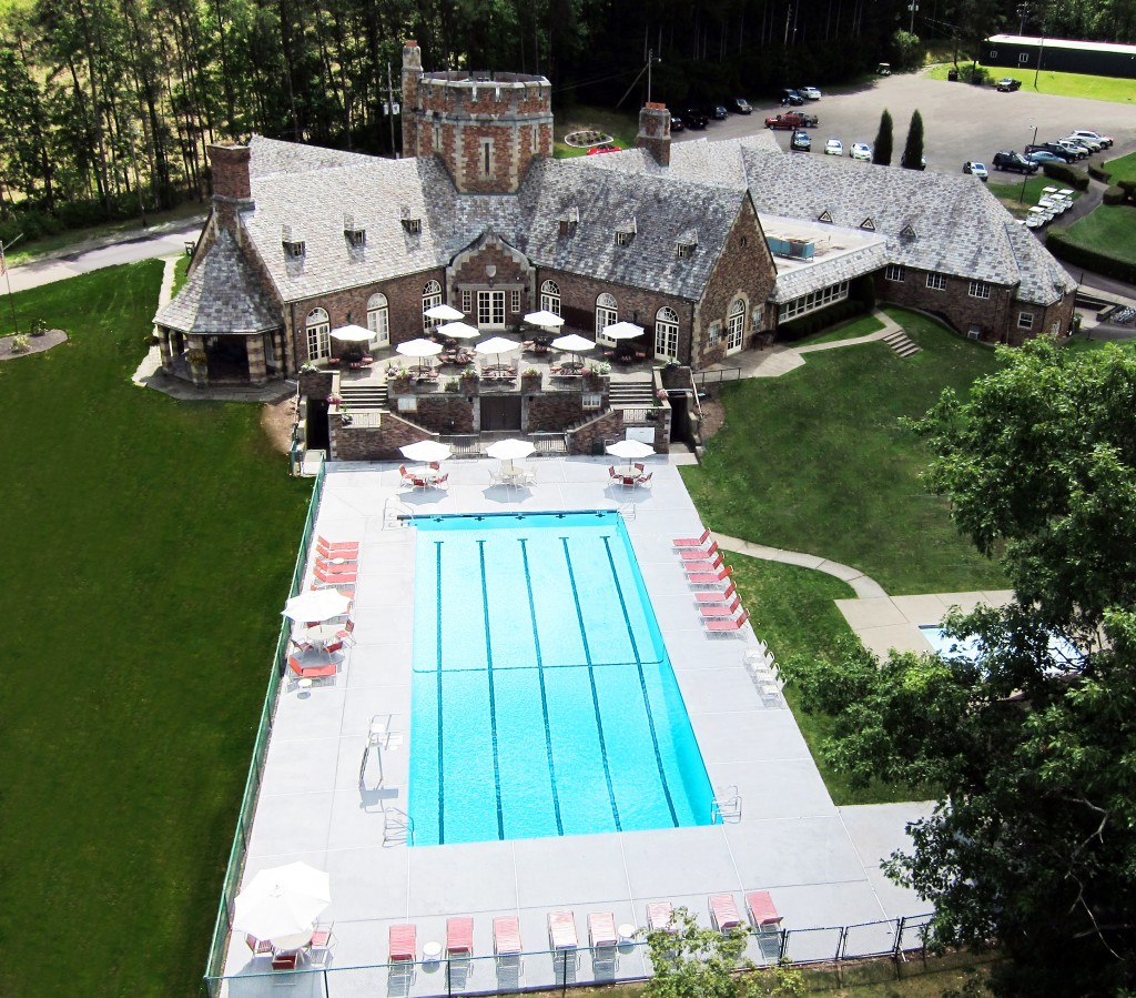 Pool & Clubhouse Aerial